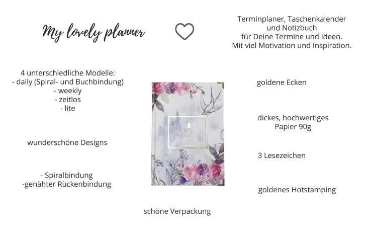 My lovely planner – Terminplaner und Notizbuch für 2020
