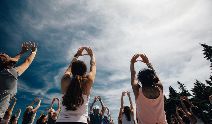 Yogasessions mit Freundinnen