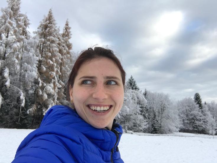 Winterspaziergang im Schnee