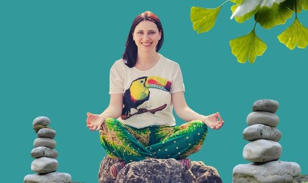 Sarah M. Richter meditiert bei Stress